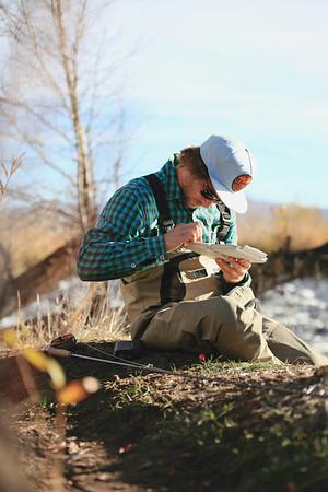 Jayson Hale fly fishing - Provo River, Utah