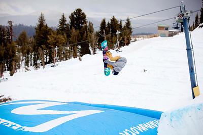 Gretchen Bleiler 2013 U.S. Snowboarding pring Camp at Mammoth, CA Photo: Sarah Brunson/U.S. Snowboarding