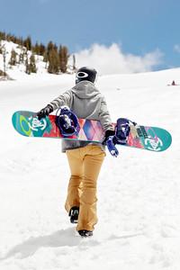 Gretchen Bleiler 2013 U.S. Snowboarding Spring Camp at Mammoth, CA Photo: Sarah Brunson/U.S. Snowboarding