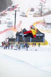 Arielle Gold Halfpipe qualifications 2015 Sprint U.S. Snowboarding Grand Prix at Park City Mountain Resort in Park City, UT Photo: USSA