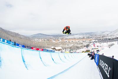 Taylor Gold Halfpipe finals 2015 Sprint U.S. Snowboarding Grand Prix at Park City Mountain Resort, Park City, Utah. Photo: USSA