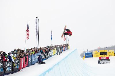 Brett Esser Halfpipe finals 2015 Sprint U.S. Snowboarding Grand Prix at Park City Mountain Resort, Park City, Utah. Photo: USSA