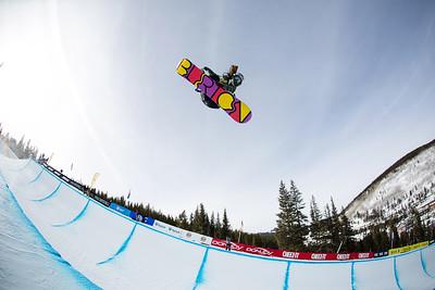 Arielle Gold 2014 Sprint U.S. Snowboarding Grand Prix at Copper Mountain, CO. Halfpipe snowboarding finals Photo: Sarah Brunson/U.S. Snowboarding
