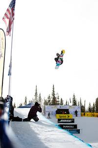 Greg Bretz 2014 Sprint U.S. Snowboarding Grand Prix at Copper Mountain, CO. Halfpipe snowboarding finals Photo: Sarah Brunson/U.S. Snowboarding