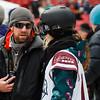 Jessika Jenson and Mike Jankowski<br /> Snowboard qualifiers<br /> 2016 Polartec Big Air at Fenway U.S. Snowboarding Grand Prix<br /> Photo: U.S. Snowboarding