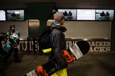 Snowboard training 2016 Polartec Big Air at Fenway U.S. Snowboarding Grand Prix Photo: U.S. Snowboarding