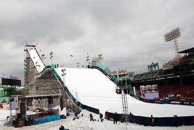 Eric Beauchemin Snowboard training 2016 Polartec Big Air at Fenway U.S. Snowboarding Grand Prix Photo: U.S. Snowboarding