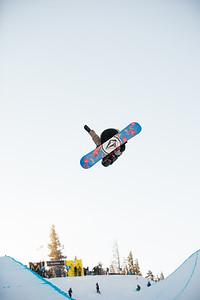 Gabe Ferguson Snowboarding halfpipe finals Snowboard halfpipe finals 2016 U.S. Snowboarding Grand Prix at Mammoth Photo: U.S. Snowboarding