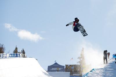 Ryo Aono (JPN) Snowboard halfpipe finals 2016 U.S. Snowboarding Grand Prix at Mammoth Photo: U.S. Snowboarding