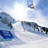 Jessika Jenson<br /> Snowboarding Slopestyle finals<br /> 2016 U.S. Snowboarding Grand Prix at Mammoth Mountain, CA<br /> Photo: Melanie Harding/U.S. Snowboarding