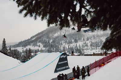 Eric Willett 2016 Team USA Winter Champions Series - Copper, CO Big Air snowboarding finals Photo: U.S. Snowboarding