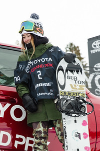 Hailey Langland Slopestyle snowboarding finals 2017 Toyota U.S. Grand Prix - Snowboarding at Mammoth Mountain, CA Photo: U.S. Snowboarding