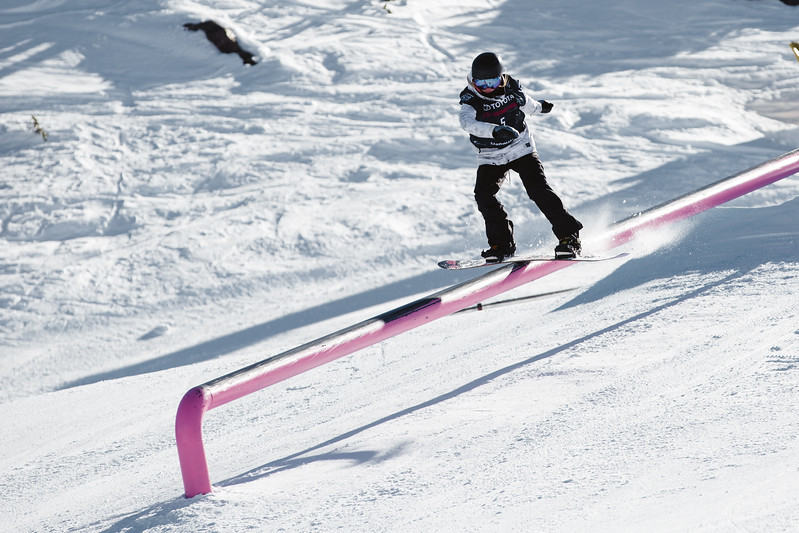 Jessika Jenson<br /> Slopestyle snowboarding qualifiers<br /> 2017 Toyota U.S. Grand Prix - Snowboarding at Mammoth Mountain, CA<br /> Photo: Sarah Brunson/U.S. Snowboarding