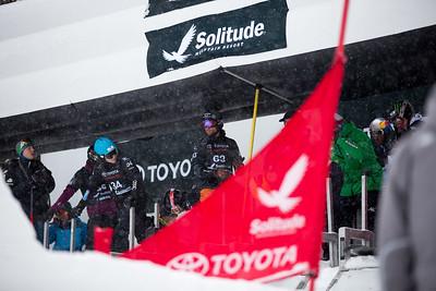 Glenn de Blois and Laro Herrero Qualifiers 2017 Toyota U.S. Grand Prix - Snowboardcross at Solitude Resort Photo: U.S. Snowboarding