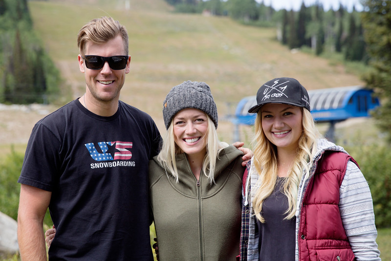 (l-r) Alex Deibold, Faye Gulini and Whitney Gardner USSA press conference announcing that Solitude Mountain Resort will host the snowboardcross and ski cross events for the 2019 FIS Freestyle and Snowboard World Championships. In preparation for the World Championships, Solitude will host a test event, featuring a snowboardcross FIS World Cup and Grand Prix skicross event, Jan. 19–22, 2017 Photo: USSA