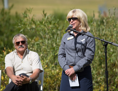 Bob Wheaton (l) and Kim Mayhew (r)  USSA press conference announcing that Solitude Mountain Resort will host the snowboardcross and ski cross events for the 2019 FIS Freestyle and Snowboard World Championships. In preparation for the World Championships, Solitude will host a test event, featuring a snowboardcross FIS World Cup and Grand Prix skicross event, Jan. 19–22, 2017 Photo: USSA
