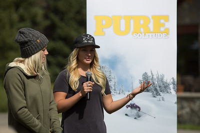 Faye Gulini and Whitney Gardner  USSA press conference announcing that Solitude Mountain Resort will host the snowboardcross and ski cross events for the 2019 FIS Freestyle and Snowboard World Championships. In preparation for the World Championships, Solitude will host a test event, featuring a snowboardcross FIS World Cup and Grand Prix skicross event, Jan. 19–22, 2017 Photo: USSA