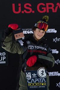 Chandler Hunt Snowboard Big Air finals 2017 Toyota U.S. Snowboarding Grand Prix at Copper, CO Photo: Sarah Brunson/U.S. Ski & Snowboard