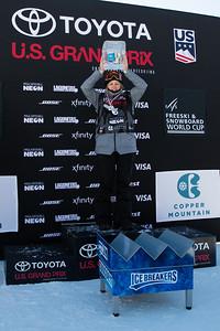 Icebreakers Break Through Award: Julia Marino Snowboard Big Air finals 2017 Toyota U.S. Snowboarding Grand Prix at Copper, CO Photo: U.S. Ski & Snowboard