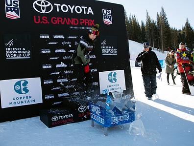 Icebreakers Break Through Award: Chandler Hunt Snowboard Big Air finals 2017 Toyota U.S. Snowboarding Grand Prix at Copper, CO Photo: U.S. Ski & Snowboard