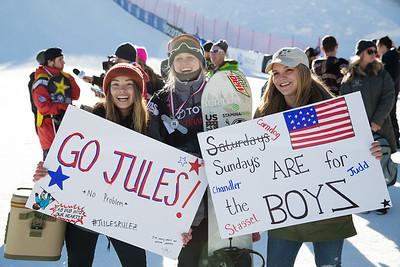 Hailey Langland, Julia Marino and Ty Walker Snowboard Big Air finals 2017 Toyota U.S. Snowboarding Grand Prix at Copper, CO Photo: Sarah Brunson/U.S. Ski & Snowboard
