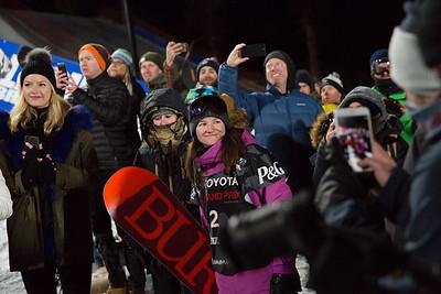 Kelly Clark Snowboard Halfpipe finals 2018 Toyota U.S. Freeskiing Grand Prix at Mammoth Mountain, CA Photo: Sarah Brunson/U.S. Ski & Snowboard
