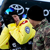 Kyle Mack and Mike Ramirez<br /> Snowboard Slopestyle finals<br /> 2018 Toyota U.S. Snowboarding Grand Prix at Mammoth Mountain, CA<br /> Photo: Sarah Brunson/U.S. Ski & Snowboard