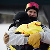 Kyle Mack and Chas Guldemond<br /> Snowboard Slopestyle finals<br /> 2018 Toyota U.S. Snowboarding Grand Prix at Mammoth Mountain, CA<br /> Photo: Sarah Brunson/U.S. Ski & Snowboard
