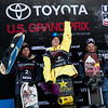 Red Gerard, Kyle Mack and Brock Crouch<br /> Snowboard Slopestyle finals<br /> 2018 Toyota U.S. Snowboarding Grand Prix at Mammoth Mountain, CA<br /> Photo: Sarah Brunson/U.S. Ski & Snowboard