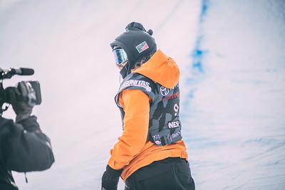 Danny Davis Snowboard halfpipe finals 2018 Toyota U.S. Snowboarding Grand Prix at Aspen/Snowmass, CO Photo: Ryan Wachendorfer // Editorial use only. For licensing please email: ryan.wachendorfer.vssa@gmail.com