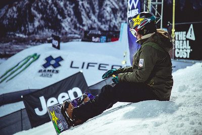 Arielle Gold Snowboard Halfpipe X Games Aspen Photo © Ryan Wachendorfer // Editorial use only. For licensing please email: ryan.wachendorfer.vssa@gmail.com
