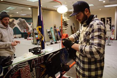 Parker Rockwood, U.S. Halfpipe Snowboard Team wax tech   Photo: U.S. Ski & Snowboard