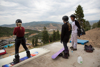 Ty Walker, Jessika Jenson and coach Mike Ramirez U.S. Ski & Snowboard Project Jump at the Utah Olympic Park Photo © U.S. Ski & Snowboard