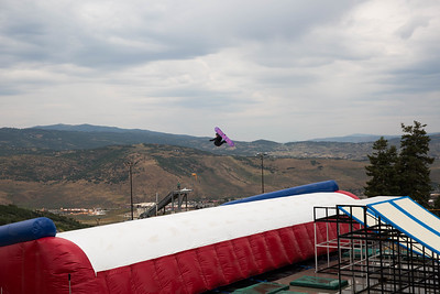 Jessika Jenson U.S. Ski & Snowboard Project Jump at the Utah Olympic Park Photo © U.S. Ski & Snowboard