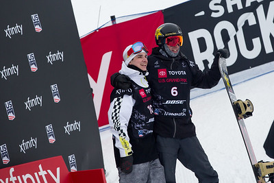 Derek Livingston, Chase Josey Halfpipe snowboard finals 2019 Toyota U.S. Grand Prix at Mammoth Mountain, CA Photo: U.S. Ski & Snowboard