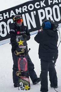 Chase Josey Halfpipe snowboard finals 2019 Toyota U.S. Grand Prix at Mammoth Mountain, CA Photo: U.S. Ski & Snowboard