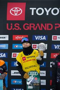 Xuetong Cai Halfpipe snowboard finals 2019 Toyota U.S. Grand Prix at Mammoth Mountain, CA Photo: U.S. Ski & Snowboard