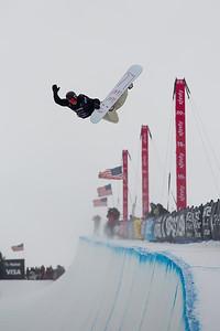 Patrick Burgener Halfpipe snowboard finals 2019 Toyota U.S. Grand Prix at Mammoth Mountain, CA Photo: U.S. Ski & Snowboard