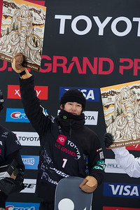 Yuto Totsuka Halfpipe snowboard finals 2019 Toyota U.S. Grand Prix at Mammoth Mountain, CA Photo: U.S. Ski & Snowboard