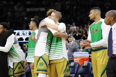 Notre Dame men's basketball vs North Carolina State Mar. 5, 2016 Notre Dame, Ind. (Purcell Pavilion)