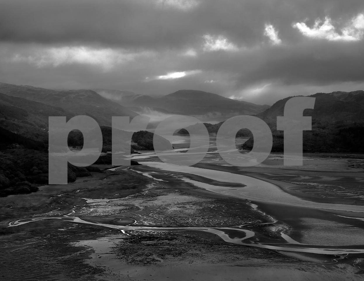 Mawddach Estuary in Snowdonia Wales ad first light