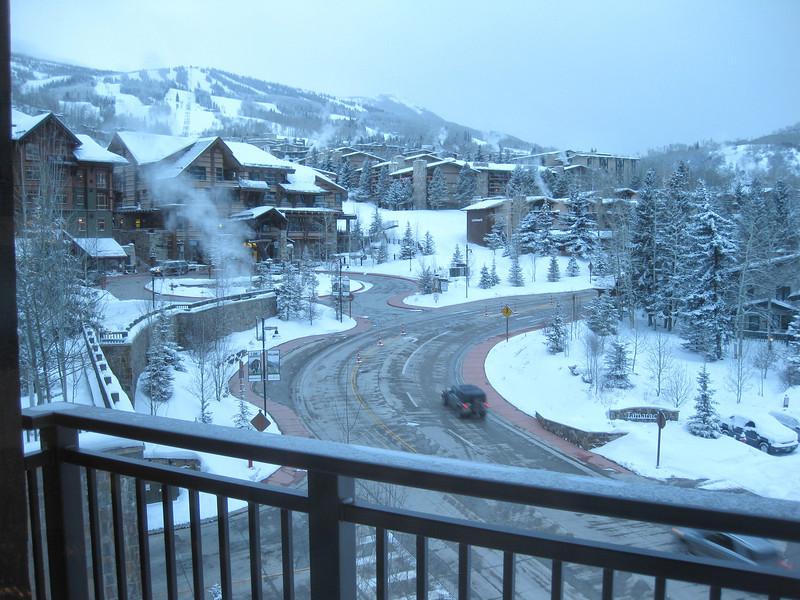 Snowmass lower village road