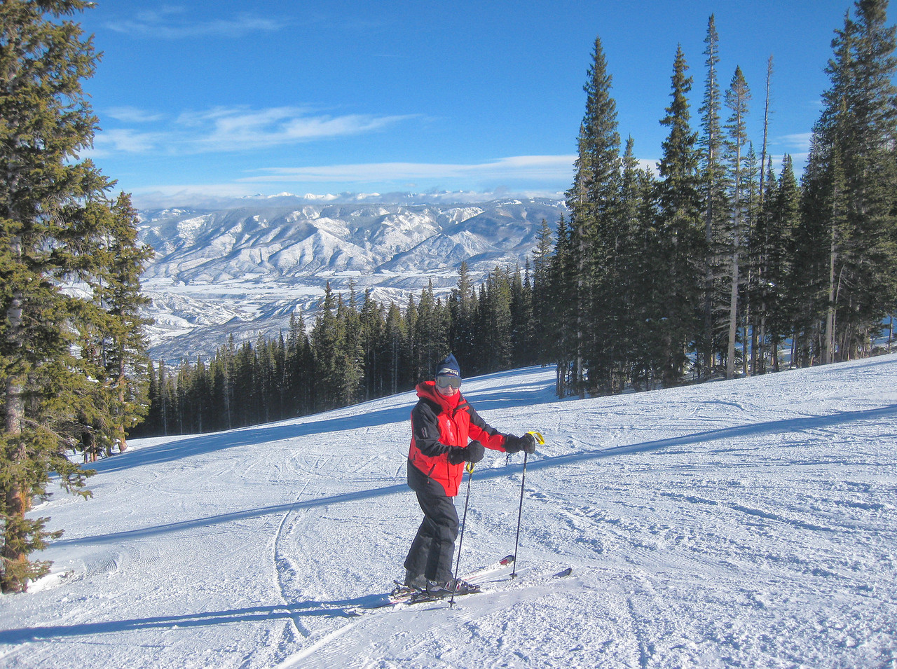 Skiing Seer Bliss Run Snowmass