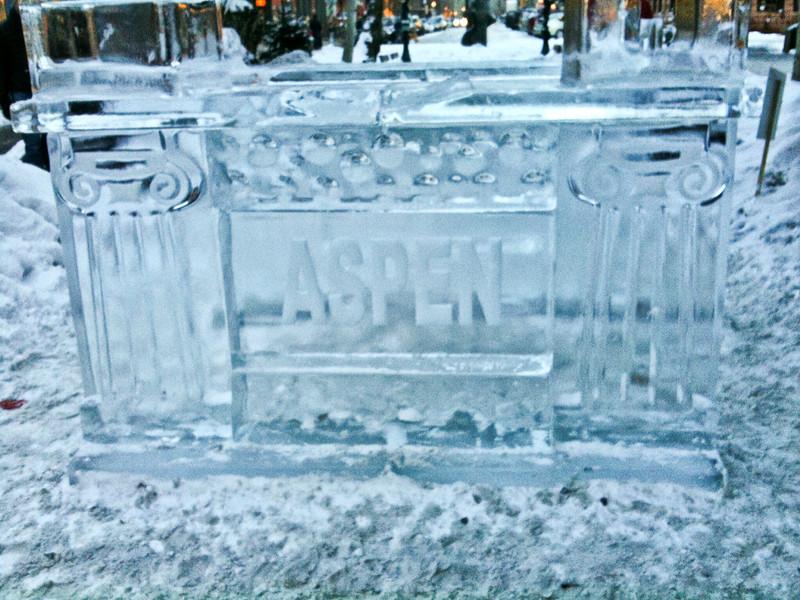 Aspen-Winerskol Ice Carving