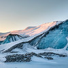 Dramatic light and landscapes are everywhere with eons old blocks of blue ice decorating many areas