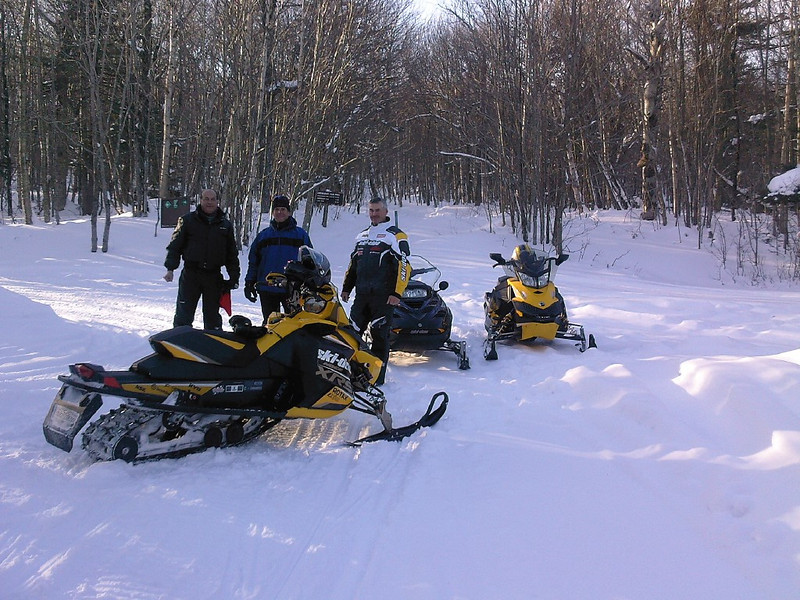Jr Bove, Billy Hadeka and Rob Brill at the end of the Black Swamp Road on a nice sunny day in January 2013