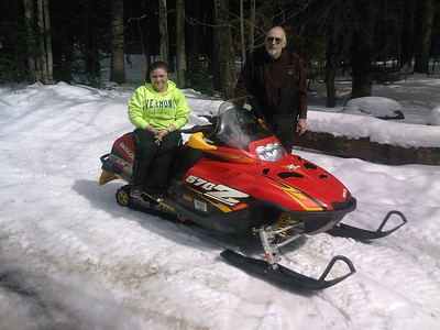Barry and granddaughter Shelby Baker in Wheelerville on March 10, 2013.