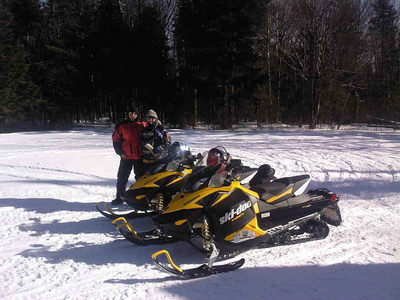 Denise and Mark Mottai at the Stone House on January 26, 2013. They were up from Conn. for some riding.