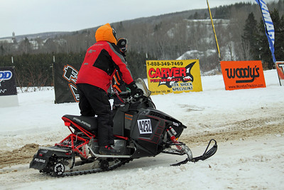 Glenn Daigle of Madawaska getting ready for the start.