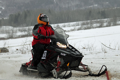 Glenn Daigle of Madawaska on his Polaris Rush